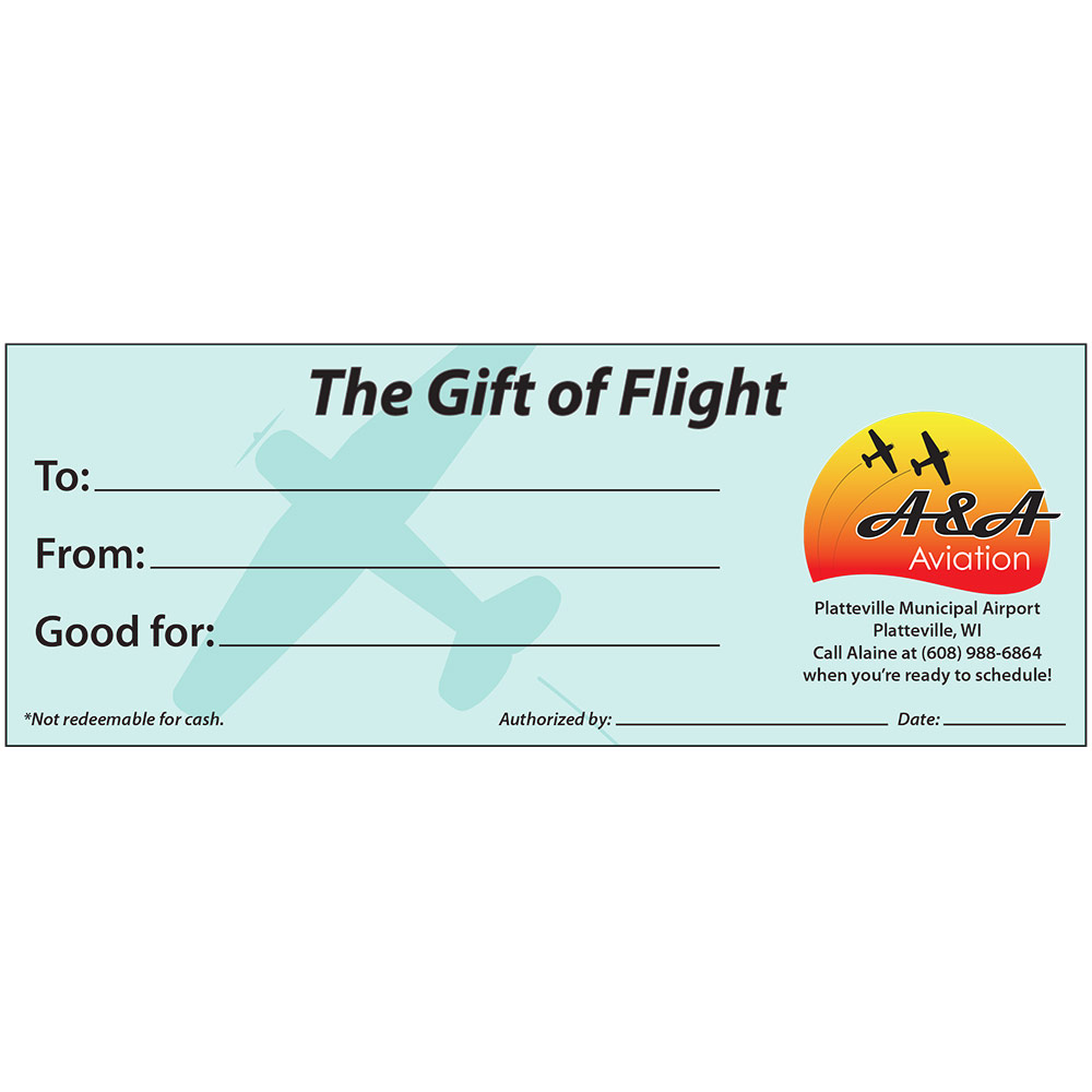 Aa aviation gift certificate flypvb aa aviation gift certificate negle Gallery